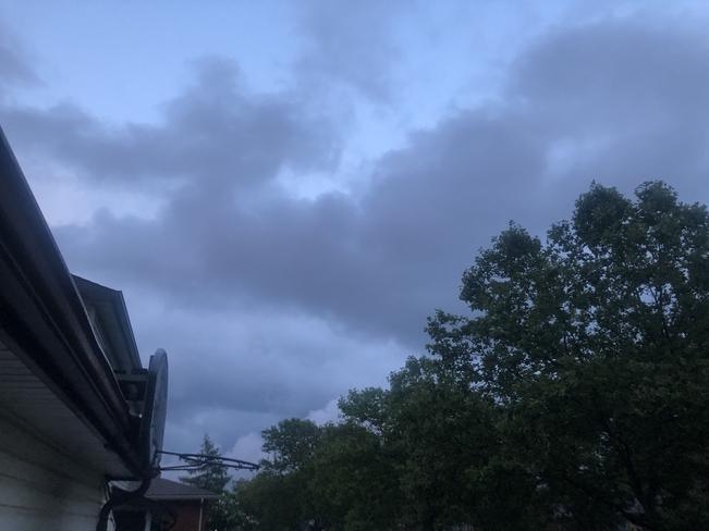 Thunder storm clouds heading right towards the waterfalls Niagara Falls, Ontario   L2G 2Z2