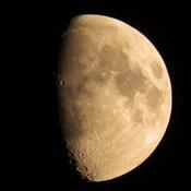 Reddish moon photographed on July 18, 2021 by Jon Hammond