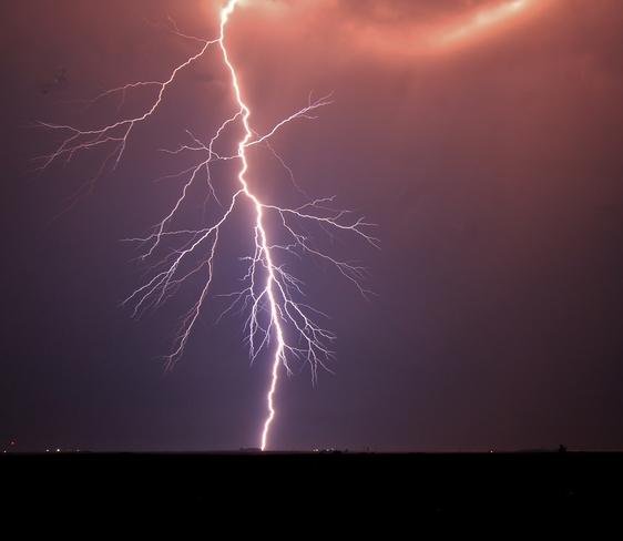 lightning in the smoke Brooks, AB