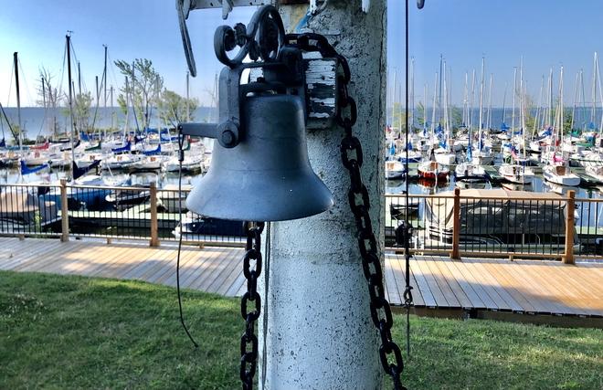 Ship's bell at the marina.. Beaconsfield, Quebec, CA