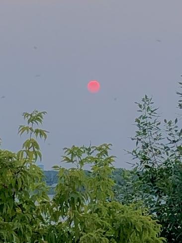 Sunset tonight!! Dorval, Quebec, CA