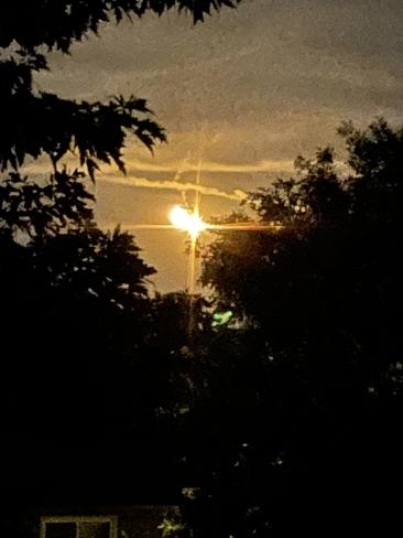 Moon meeting a star Burlington, Ontario, CA