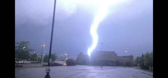 Lightning Strike in the moment Toronto, Ontario, CA