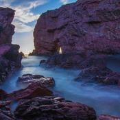 Long Exposure of Tickle Sea Arch Area
