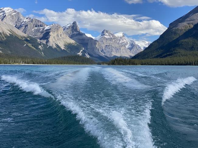 Enjoying Lake Maligne Jasper, Alberta, CA