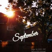 Sept 16 2021 20C September beautiful sunset in Thornhill