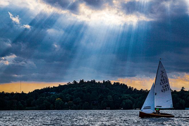 Sailing into the sunbeams Port Sydney, Ontario, CA