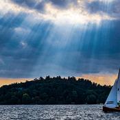 Sailing into the sunbeams