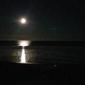 Moon...4:30 am over Amberley Beach