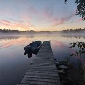 Sunrise lake near Atikokan