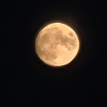 Moon rise in PEI