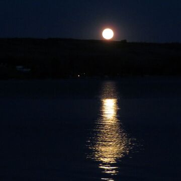 Moon Rise over Buffalo Pound Lake