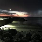 Eerie Ominous sky at Balsam Harbour tonight