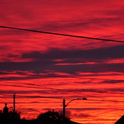 Orange Fall Sky At Night Sailors Delight