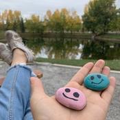 Feeling the pink rock