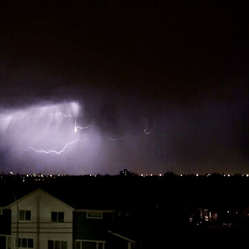 Lightning dancing in the rain