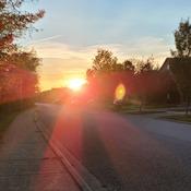 Super sunny sunset