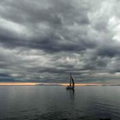 Lake Superior and Sleeping Giant on Sibley Peninsula seen from Thunder Bay