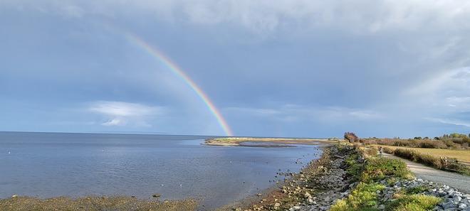 Rainbow over Boundary Bay Tsawwassen, BC