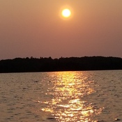 Horwood lake sun rise