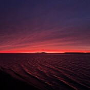 A vivid sunset