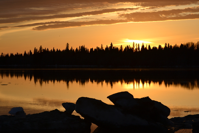 Sunset on the Moose River