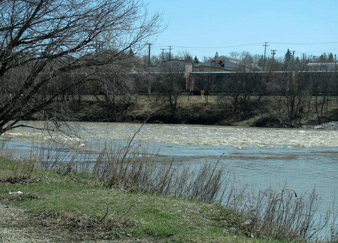 Fast Flowing River Brandon, Manitoba Canada