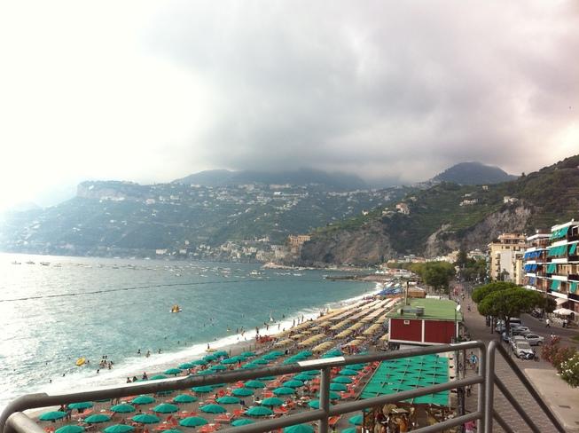 Beach of Maiori Salerno, Campania Italy