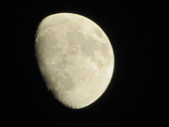 Tonights moon Lachine, Quebec Canada
