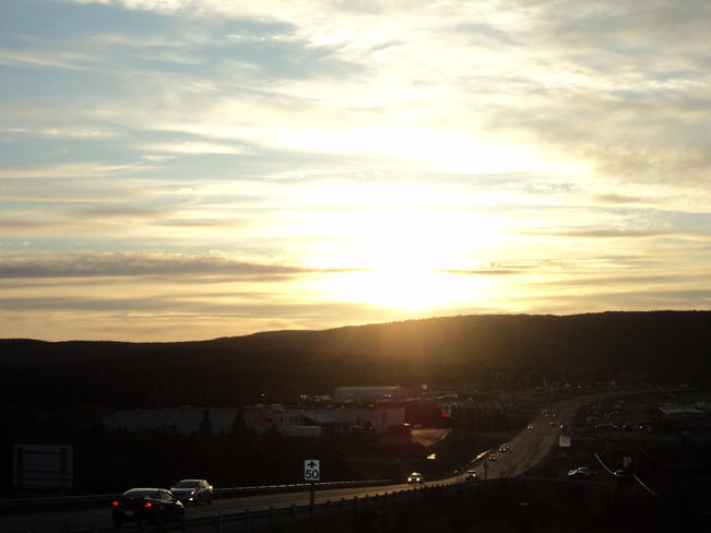Sunset over the Town Carbonear, Newfoundland and Labrador Canada