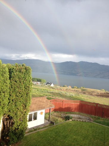 Rainbows make most people smile Westbank, British Columbia Canada