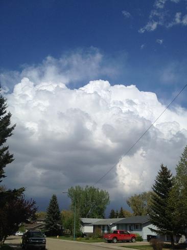 storm clouds Saskatoon, Saskatchewan Canada