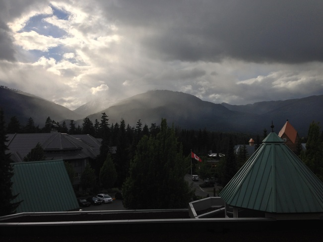 View from the Fairmont Whistler, British Columbia Canada