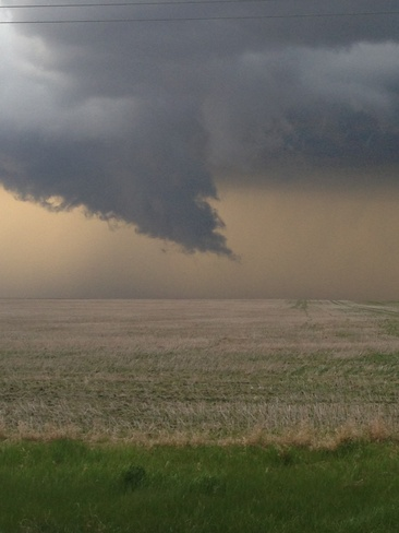 funnel clouds Major, Saskatchewan Canada