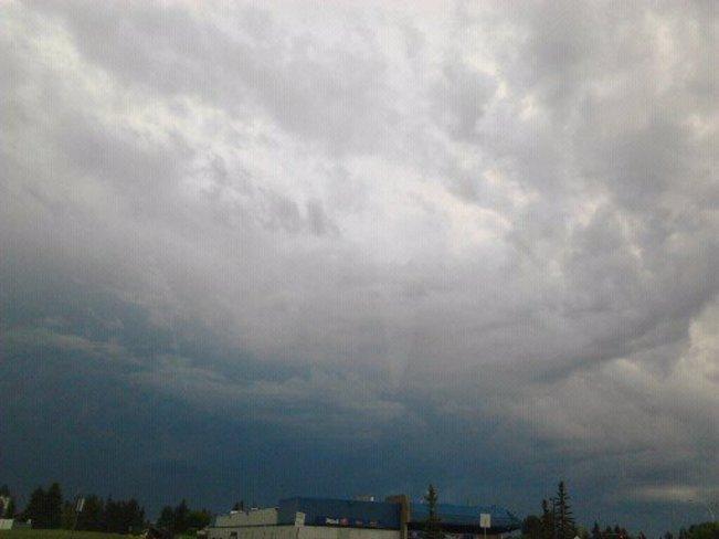 Clouds in North end of Edmonton Edmonton, Alberta Canada