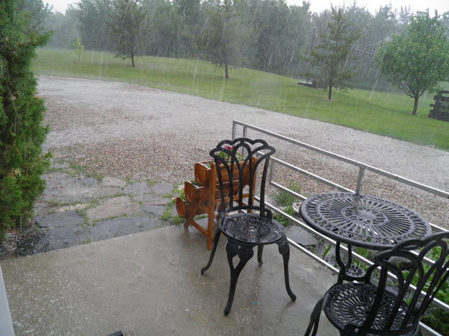 June 13 storm from our back patio Bonnyville, Alberta Canada