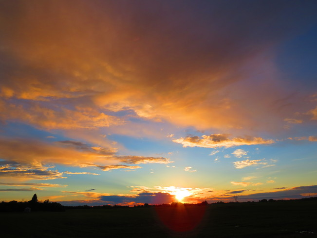 Sunset after the Storm Devon, Alberta Canada