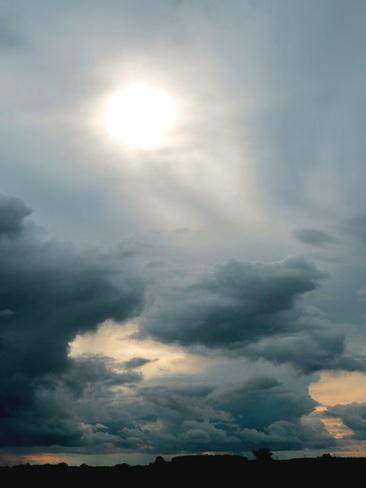 Beautiful Stormy Sky Leduc, Alberta Canada