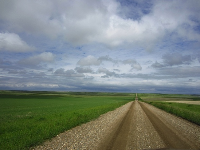back roads after the rain Kerrobert, Saskatchewan Canada