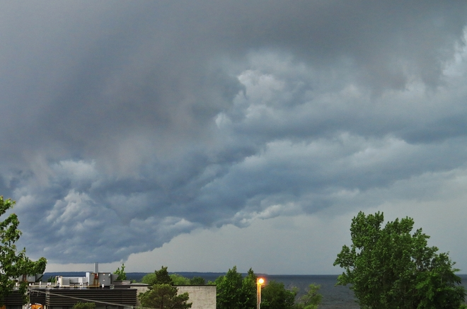 Rotation ahead of exploding cloud! North Bay, Ontario Canada