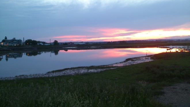 Sunset at the Wolfville Harbour. Canada's smallest Harbour Wolfville, Nova Scotia Canada