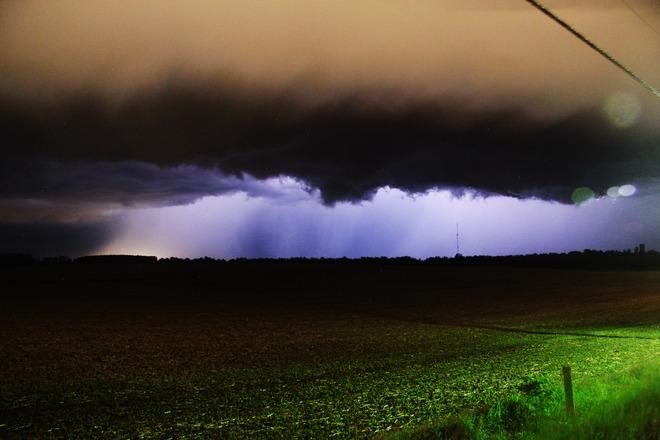 Lightning coming into Guelph Guelph-Eramosa, Ontario Canada