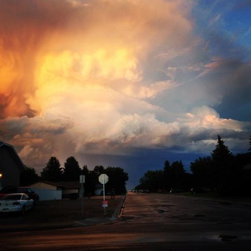 Beautiful clouds Taber, Alberta Canada