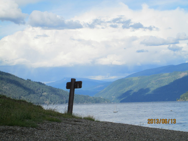 Day at the Lake Salmon Arm, British Columbia Canada