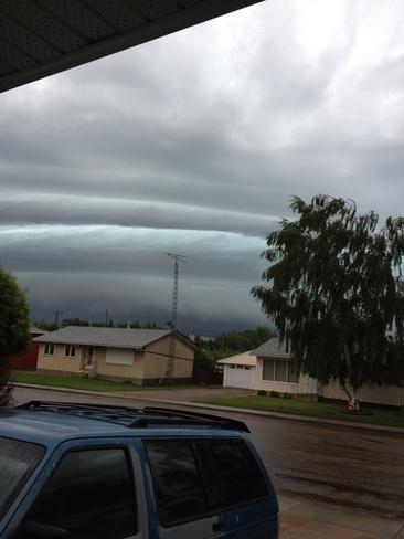 storm rolling in Macklin, Saskatchewan Canada