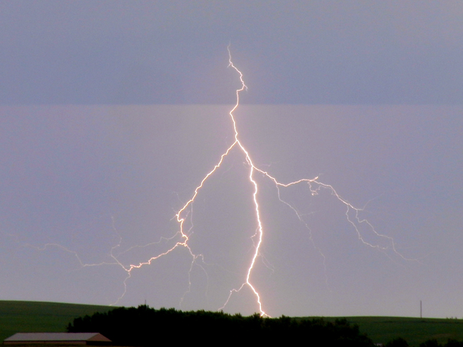 Morning Lightning near Airdrie 2 Airdrie, Alberta Canada