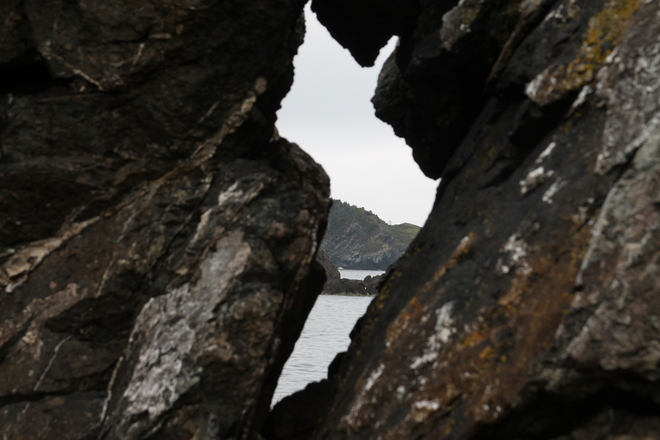 Looking through the Rocks Rock Harbour, Newfoundland and Labrador Canada