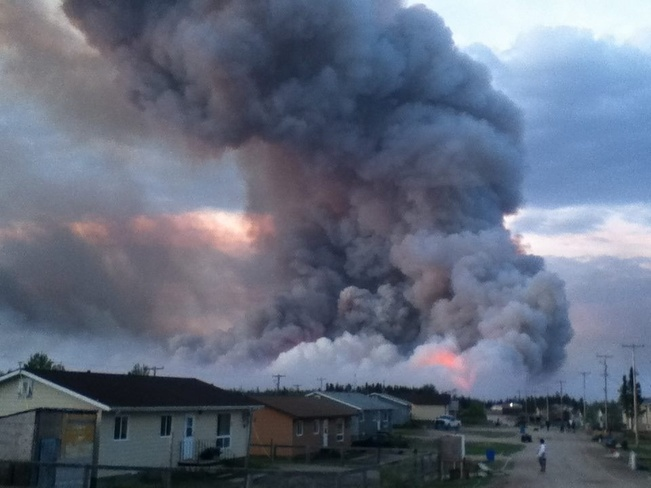 forest fire in ilford, MB Thompson, Manitoba Canada