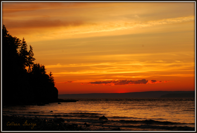 Sunset on the Bay of Fundy Canning, Nova Scotia Canada
