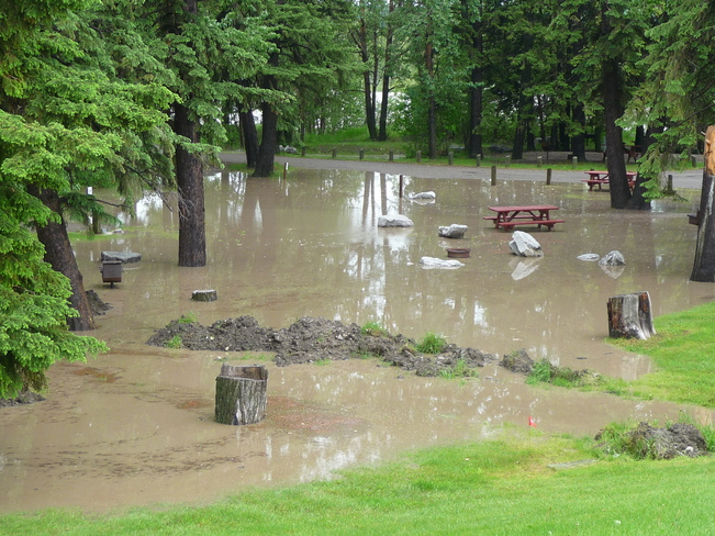 Campground flooding Sundre, Alberta Canada